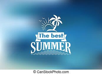 トロピカル, 夏, 浜, 最も良く, ポスター