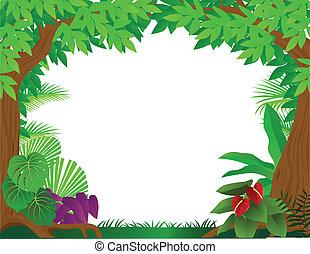 トロピカル, 背景, rainforest