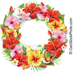 トロピカル, 花輪, 花