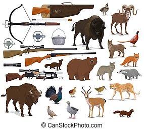 トロフィー, ハンター, 動物の 捜すこと, 弾薬