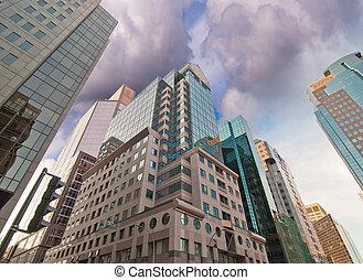 トロント, 超高層ビル, 上向きの 眺め