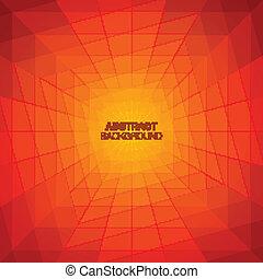 トンネル, バックグラウンド。, 抽象的, 幾何学的, カラフルである