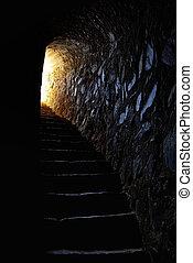 トンネル, ポルトガル語, 城, 端, ライト