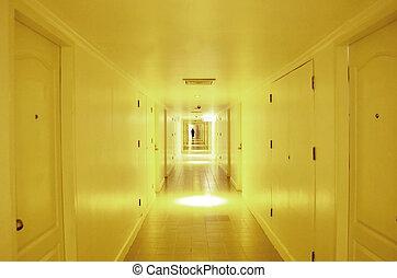 トンネル, ライト, tunnel., 端, 地下鉄