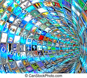 トンネル, 媒体, 2進