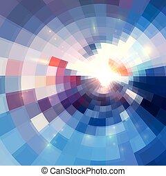 トンネル, 抽象的, 背景, すみれ, 円, 照ること