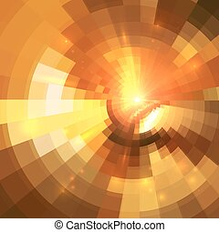 トンネル, 抽象的, 背景, オレンジ円, 照ること