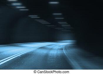 トンネル, 照明, 道, 人工