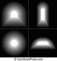 トンネル, 端, ライト