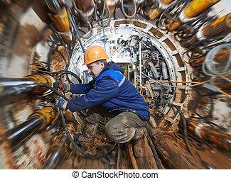 トンネル, undeground, 仕事