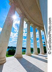 トーマス・ジェファーソン, 記念, 中に, washington d.c.