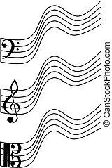 ト音譜表, ビオラ, ベース
