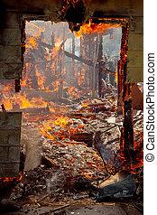 ドアフレーム, 火の家
