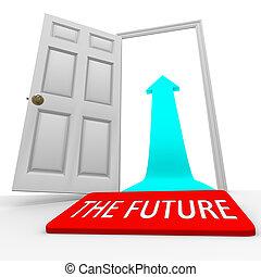ドア・マット, -, 未来, 矢, 開いた