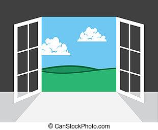 ドア, ∥あるいは∥, 外, 窓