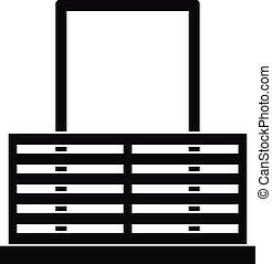 ドア, ∥で∥, フェンス, アイコン, 単純である, スタイル
