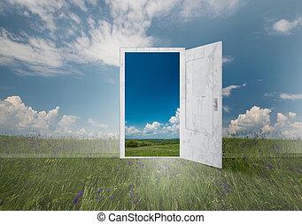 ドア, どこでも, 開いた