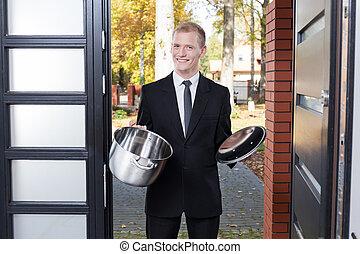 ドア, セールスマン