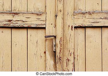 ドア, ロックされた, 古い, 閉じられた