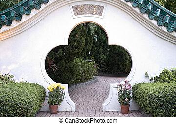ドア, 中国語, 伝統的である, 庭
