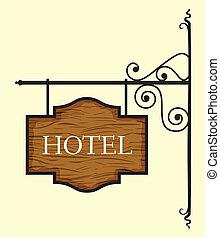 ドア, 印, 木製である, ホテル