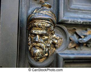 ドア, 抜粋, anrea, -, 設計された, pisano, baptistery, フィレンツェ