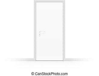 ドア, 白