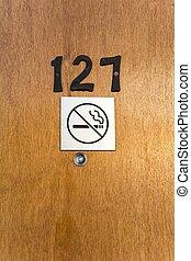 ドア, 穴, ホテルの部屋