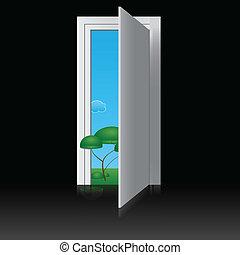 ドア, 自然