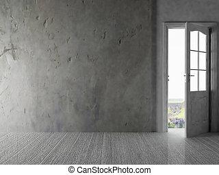 ドア, 部屋, 開始