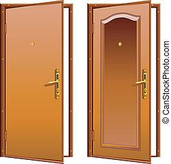ドア, 開いた