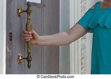 ドア, 開いた, 型