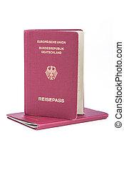 ドイツ語, パスポート, 旅行, 古い, 2