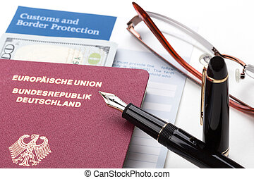 ドイツ語, 旅行, 宣言, パスポート, 習慣