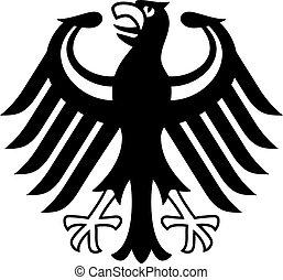 ドイツ語, 紋章, 隔離された, 白