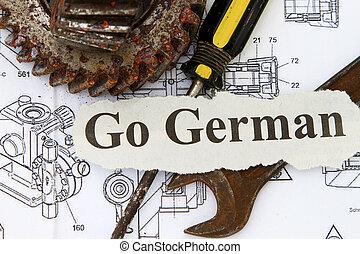 ドイツ語, 行く