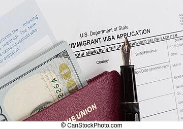 ドイツ語, 適用, 旅行, ビザ, パスポート