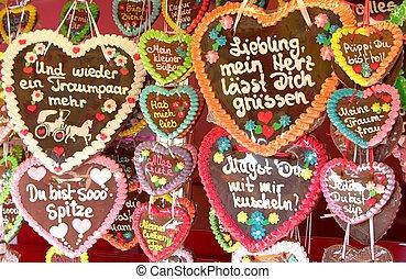 ドイツ語, gingerbread, 心