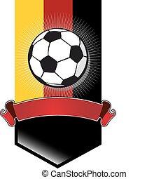 ドイツ, サッカー, 旗, 選手権