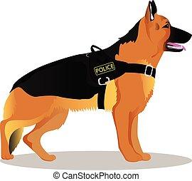ドイツ 羊飼い, 警察犬