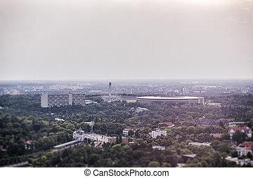 ドイツ, olympia, 航空写真, ベルリン, 写真, 競技場