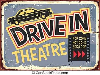 ドライブしなさい, デザイン, 印, 型, 劇場