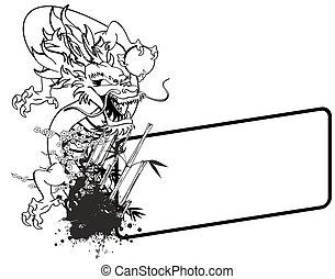 ドラゴン, アジア人, コピースペース, tattoo2