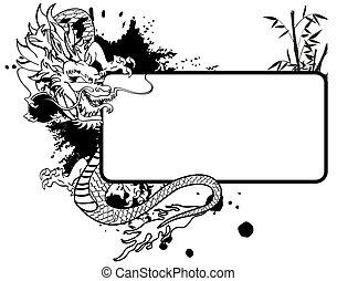 ドラゴン, アジア人, コピースペース, tattoo5