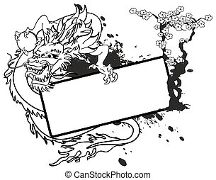 ドラゴン, アジア人, コピースペース, tattoo6
