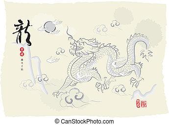 ドラゴン, インキの絵