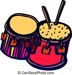 ドラムスティック, ドラム