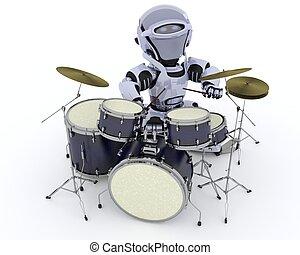 ドラム, ロボット, キット