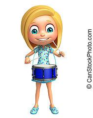 ドラム, 女の子, 子供