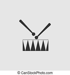 ドラム, 平ら, 罠, アイコン